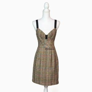 Trina Turk Boucle Multi-color Tweed Dress | 6